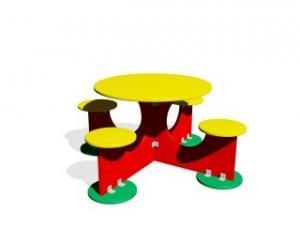 Ahşap Renkli Piknik Masası